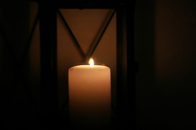 Candle in a glass tube