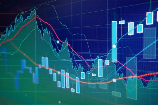 Свечи графиков инвестиционной торговли фондового рынка - бизнес-фон