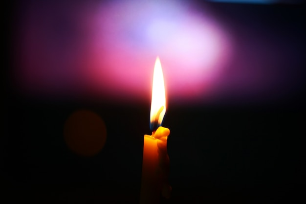 Candle light with bokeh background