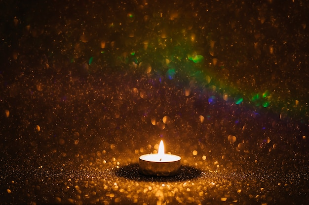 Candle under rain