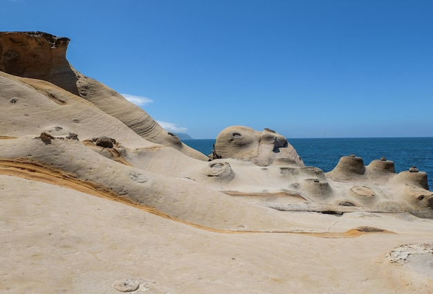 Candle rock at yehliu geopark