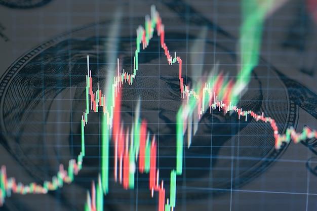 Свеча диаграмма диаграммы ручки фондовой биржи инвестиционной торговли, дизайна концепции фондовой биржи и предпосылки.