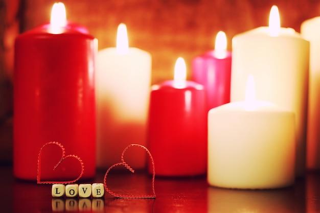 촛불 세트 사랑