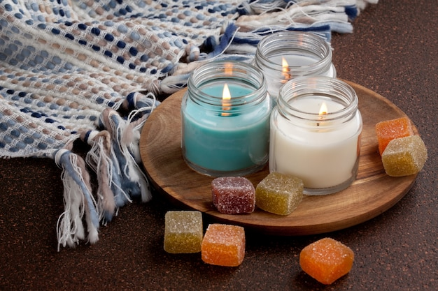 Candles for cold weather.  cosy winter holidays