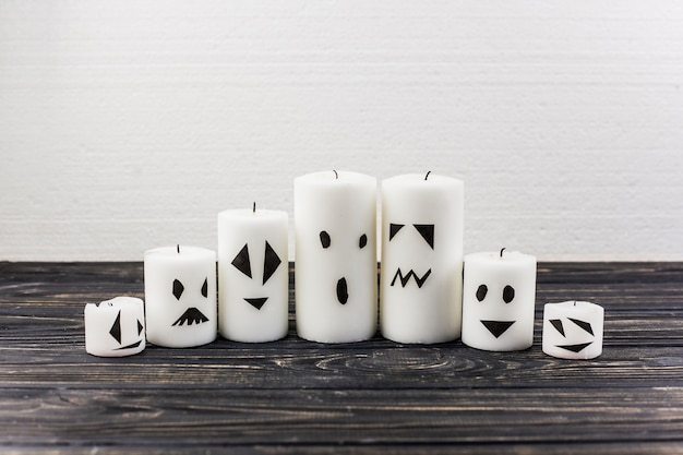 Candele decorate per halloween