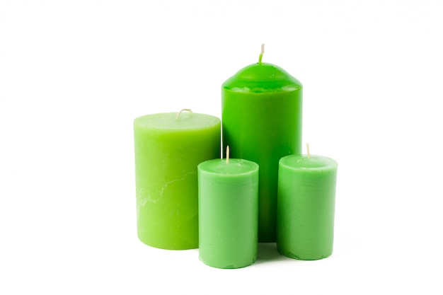 Candles isolated on white