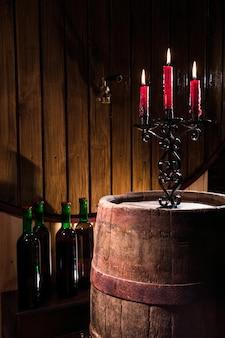 Подсвечник в винном погребе