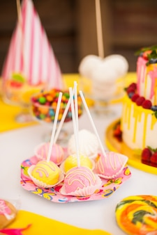 Candy bar on children's birthday party