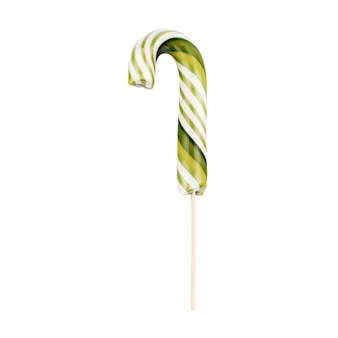 孤立したクリスマス色の棒に縞模様のキャンディケイン。