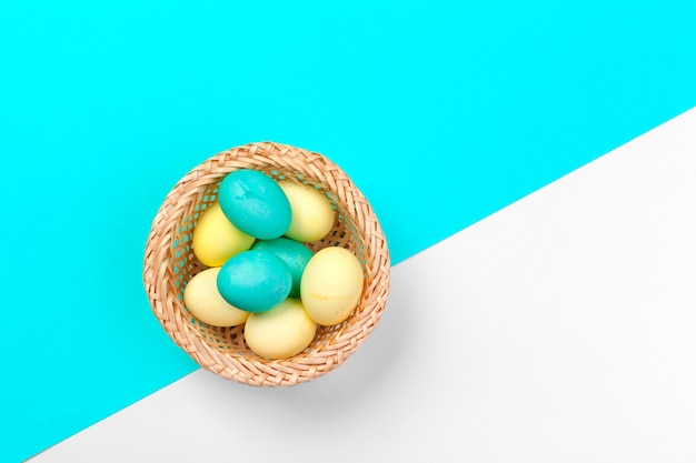 Candy color easter eggs
