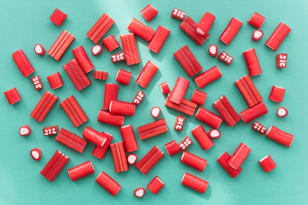 사탕 다채로운 젤로 정크 키즈 파티 개념