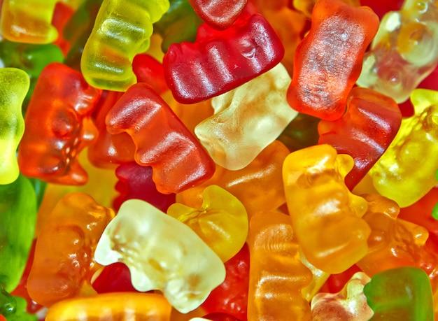곰 형태의 사탕