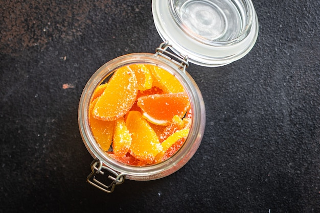Candy jelly slice marmalade sweets candys citrus orange tangerine grapefruit lemon food meal