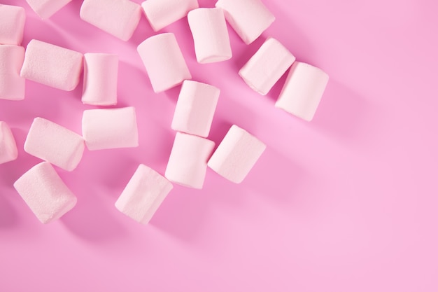 Candy pink marshmallow sweets