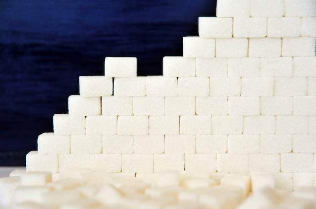Cane sugar as a background