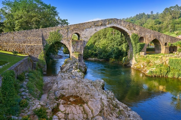 Cangas de onis roman bridge in asturias spain