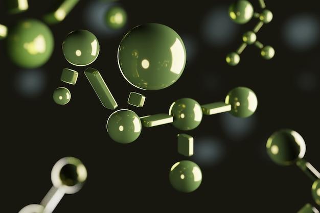 Молекула каннабидиола в 3d