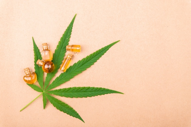 Cannabis, cannabis oil extracts in jars