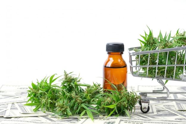 Cannabis with cannabidiol extract isolated