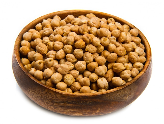 Cannellini beans on wood bowl