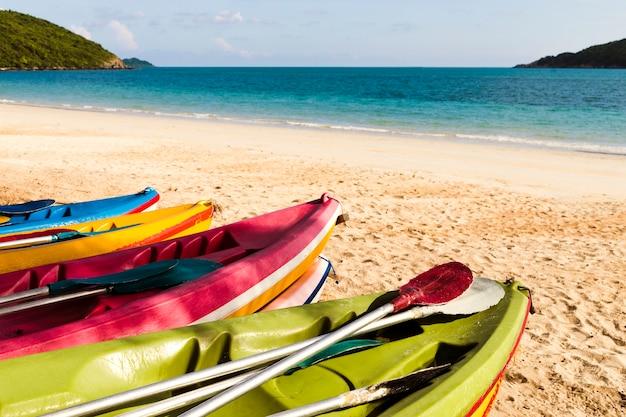 Canoe's on beach