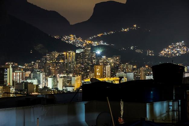 Cantagalo favelaの夕暮れ