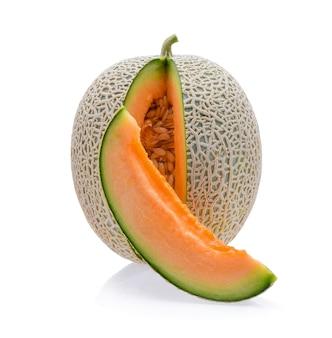 Cantaloupe melon isolated on white background Premium Photo