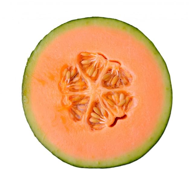 Cantaloupe melon isolated on white space