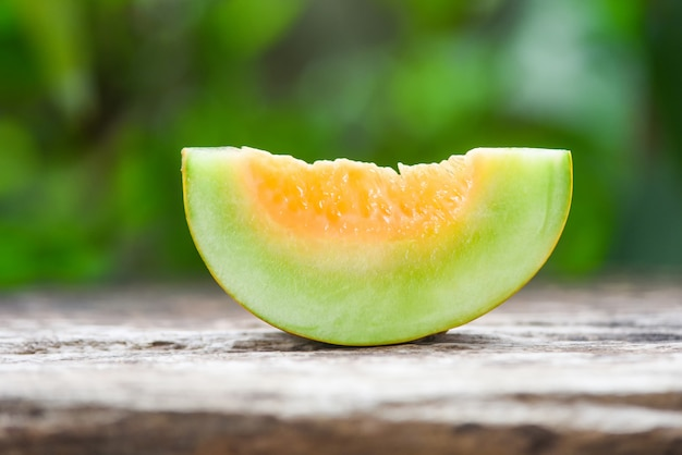 Cantaloupe melon muskmelon cucurbitaceae  sliced cantaloupe thai tropical fruit asian and flower on nature