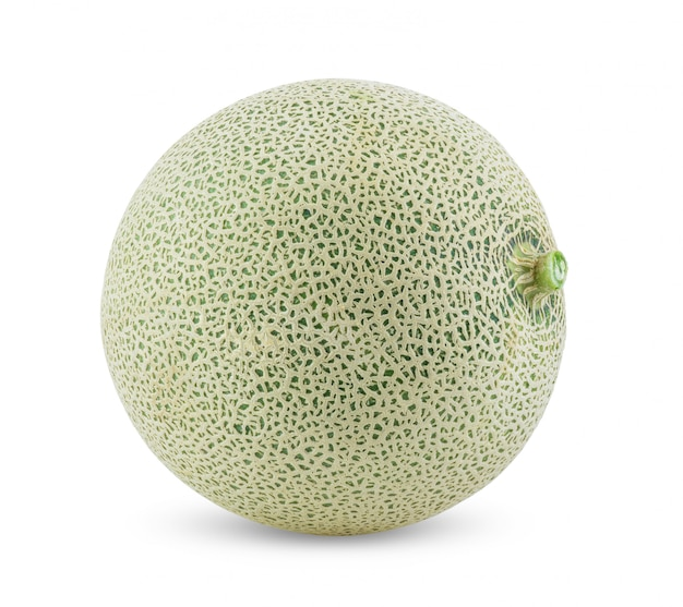 Cantaloupe melon on white table