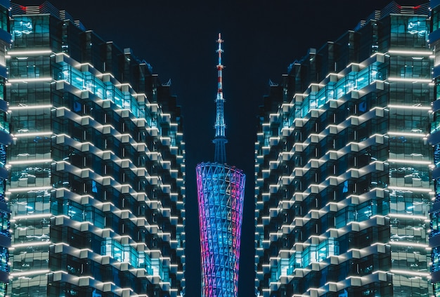 カントンタワー広州タワーシティナイトビュー