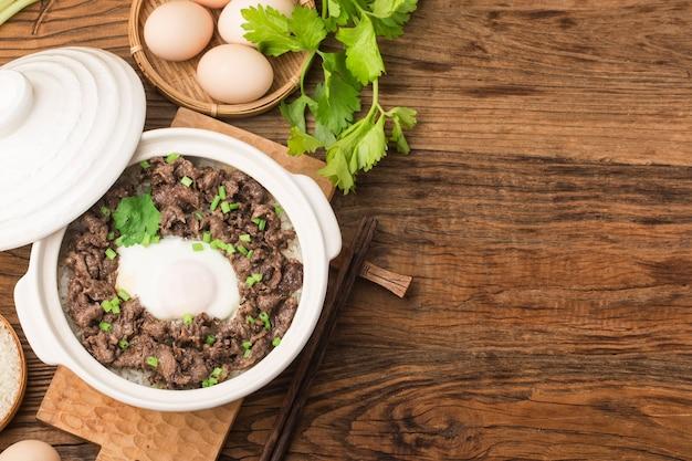 広東風ご飯と牛肉