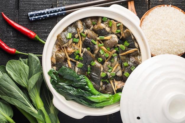 タウナギと広東風ご飯