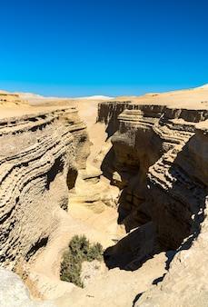 Canyon de los perdidos, canyon of the lost 또는 페루 ica 근처의 canyon del zapa