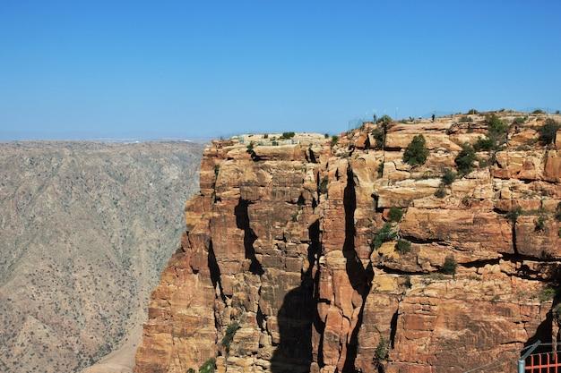 アシール地域サウジアラビアの峡谷