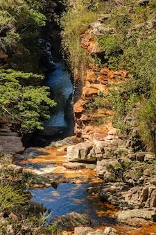 Chapada diamantina lencoisbahiaブラジルのmucugezinho川の峡谷