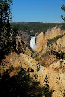 Canyon yellowstone waterfall