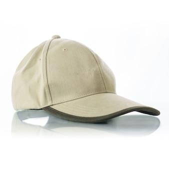 Cap on white