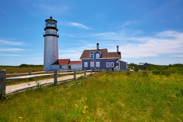 Cape cod truro lighthouse massachusetts us