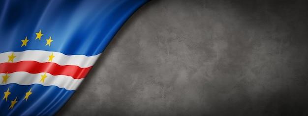 Флаг кабо-верде на бетонной стене Premium Фотографии
