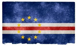 Cape verde grunge flag  striped