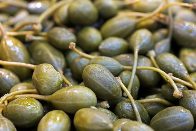 Capers for sale on the market