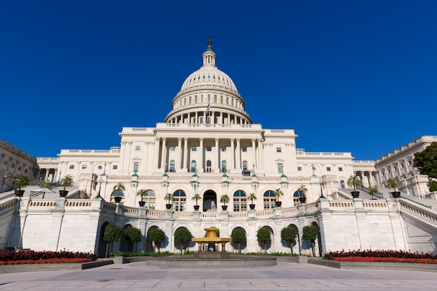 Capitol building washington dc sunlight day us