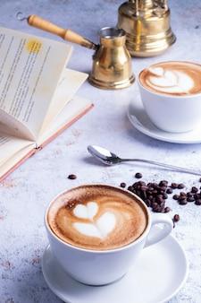 Кофе капучино с укладкой