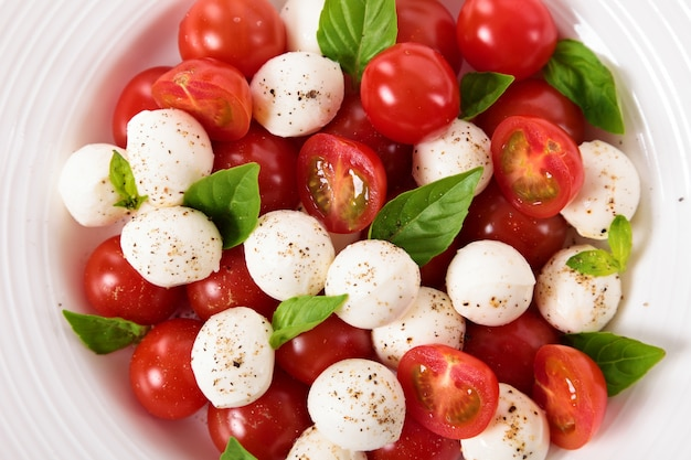 Caprese salad with mozzarella and basil
