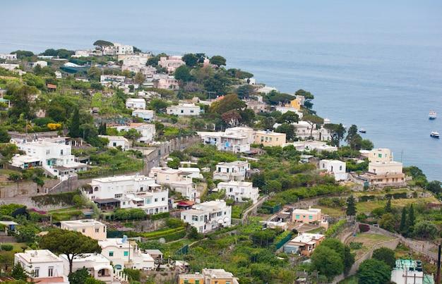 Capri town on capri island, campania, italy