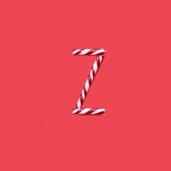 캡 사탕과 설탕 글꼴. 문자 z