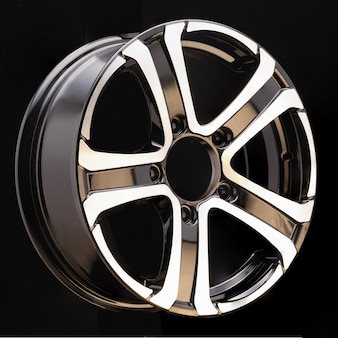 Car alloy wheel black and white beautiful modern design