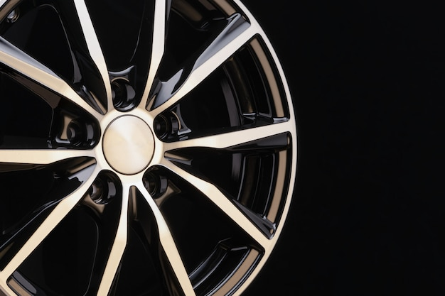 Car alloy wheel black and white beautiful modern elegant individual exclusive design