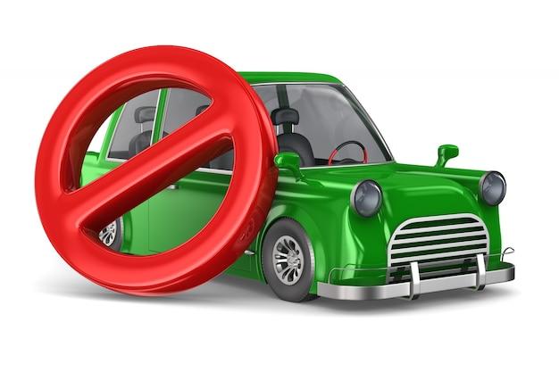 車と看板は空白で禁止されています